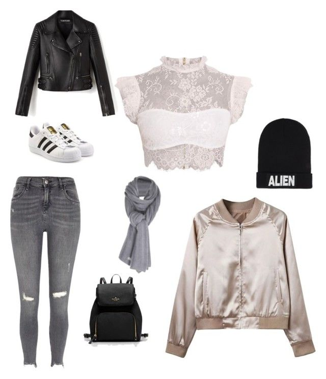"""Untitled #202"" by rekac on Polyvore featuring WithChic, River Island, adidas Originals, Nicopanda and Care By Me"