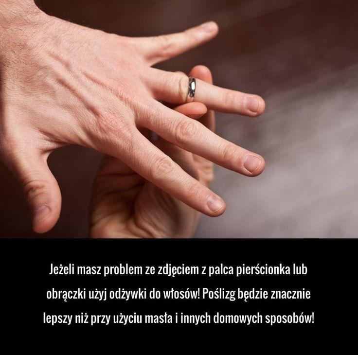 Super trik na zdjęcie pierścionka z palca