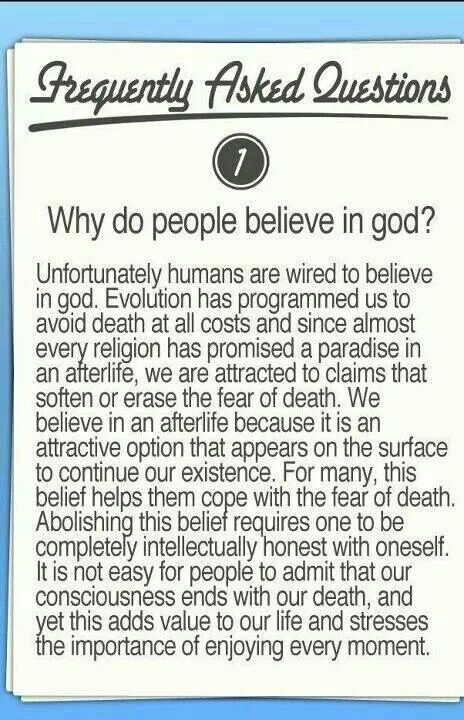 why people believe in religion How to understand people who believe in god (for atheists) regardless of whether or not you believe in god, talking about religion often leads to conflict people have very different beliefs and oftentimes, they are not very good at.