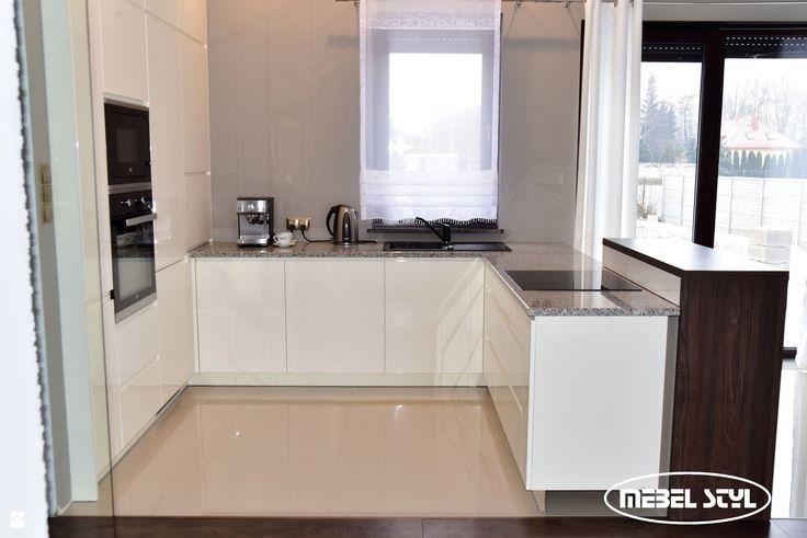 White modern kitchen - zdjęcie od Mebel Styl - Kuchnia - Styl Minimalistyczny - Mebel Styl