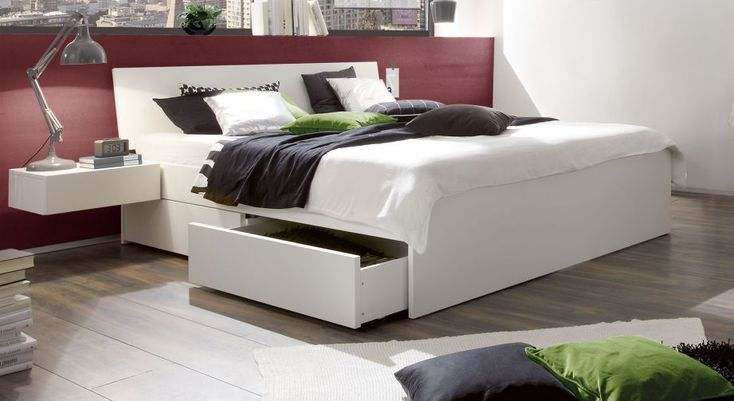 Modernes Schubkasten Doppelbett Liverpool In Weiss Haus Deko Bett Mit Schubladen Bett Mobel