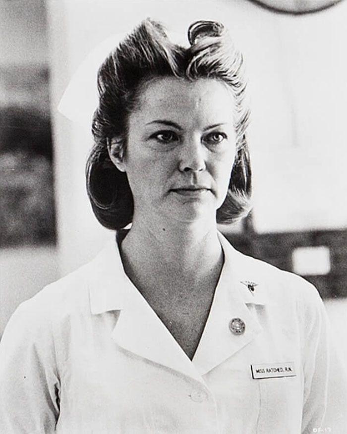 """Louise Fletcher en """"Alguien Voló Sobre el Nido del Cuco"""" (One Flew Over the Cuckoo's Nest), 1975"""