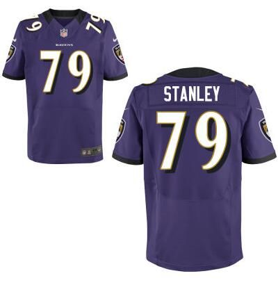 Baltimore Ravens #79 Ronnie Stanley Nike Purple Elite 2016 Draft Pick Jersey