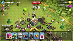 Clash of Clans - Wikipedia, the free encyclopedia -Gameplay in Clash of Clans. A player is attacking another player's village. The amount of resources available for capture are on the top left. The troops available for deployment are along the bottom of the screen.