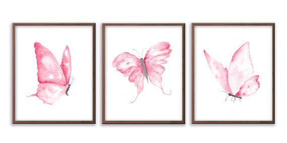 Ein schöner Satz von drei Schmetterling-Kinderzimmer-Wand Kunstdrucke. Erhältlich in benutzerdefinierten Farben Kompliment Ihr Baby kinderzimmerdekor. Die Druckgröße kann aus dem Drop-down-Menü in dieser Auflistung ausgewählt werden. Die Größe, die Sie wählen bezieht sich auf die