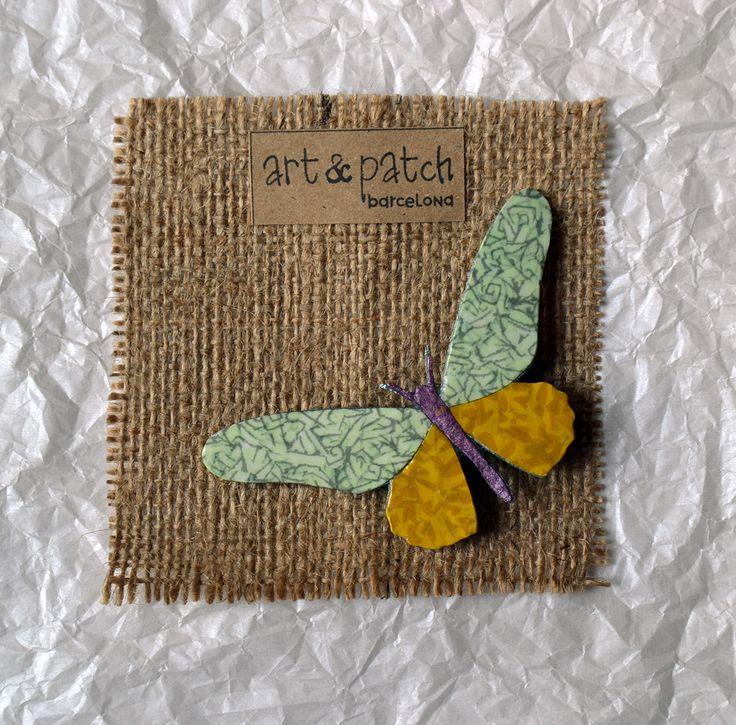 Broche mariposa | Diseño exclusivo Art & Patch Barcelona