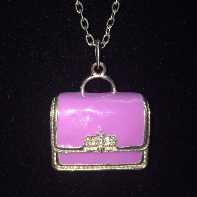 Purple Purse Pendant Silver Necklace - Mercari: BUY & SELL THINGS YOU LOVE