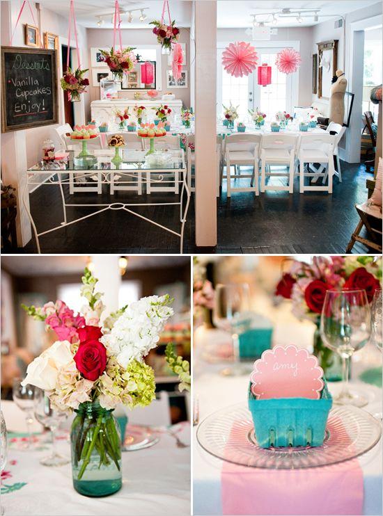 Oooh...wedding shower: Oooh Wedding Shower, Weddings, Wedding Showers, Bridal Shower Ideas, Berries Baskets, Parties Ideas, Ooohw Shower, Flower, Strawberries Shortcake Parties