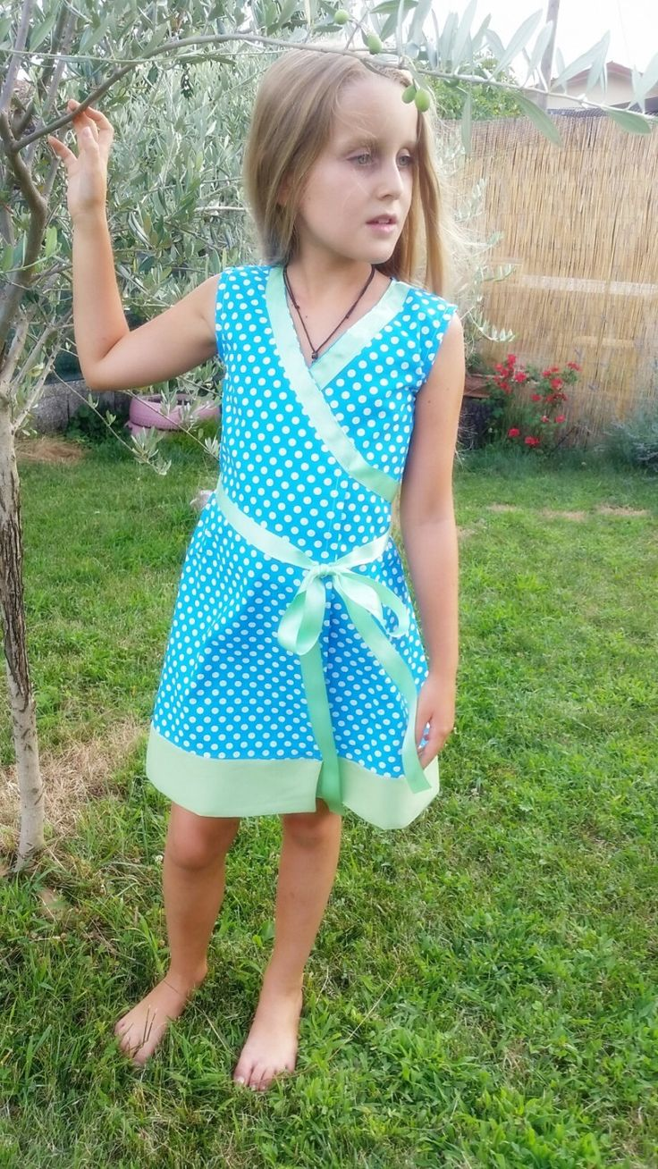 Toddler Dress,100% Cotton ,Kimono style Dress,Made in Italy Nice,Summer Girl Dress, Italian Style, Elegant Girl Dress. Vestitino in Cotone di LaDolceAria su Etsy