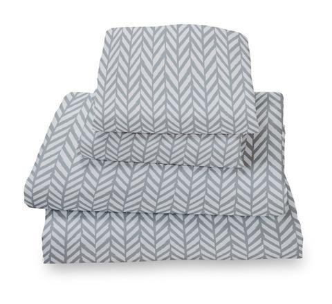 $44.99 for the best sheets I've ever purchased! Grey Herringbone Ultra Microfiber Bed Sheet Set