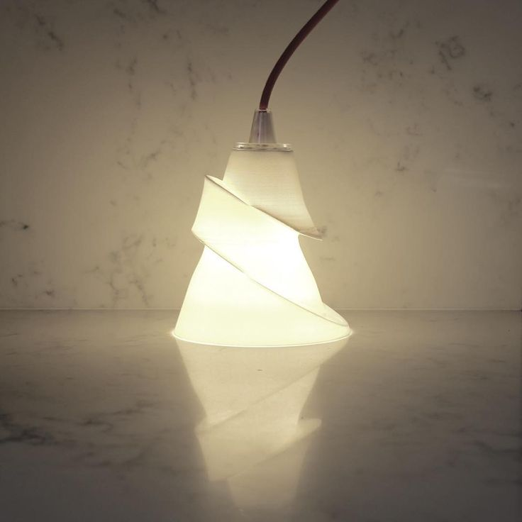 My first interpretation of a 3d printed lampshade it melted a less molten