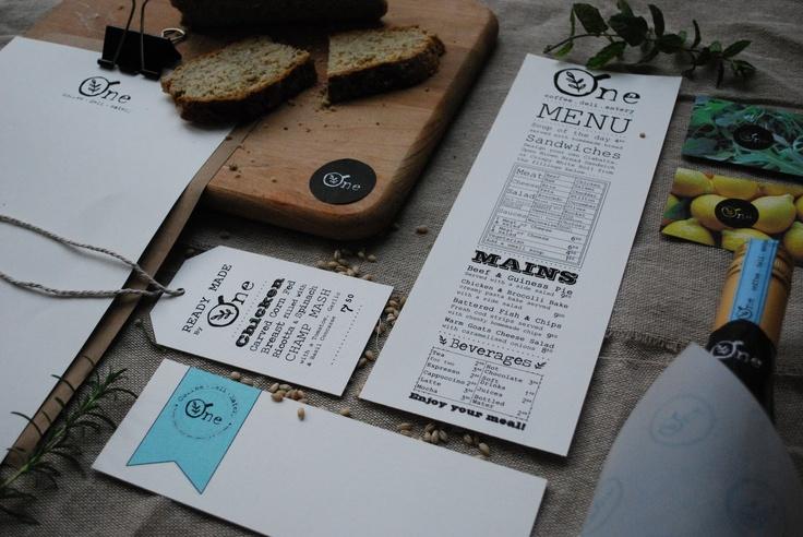 Branding design for rustic, organic cafe. www.kingstonlaffertydesign.com