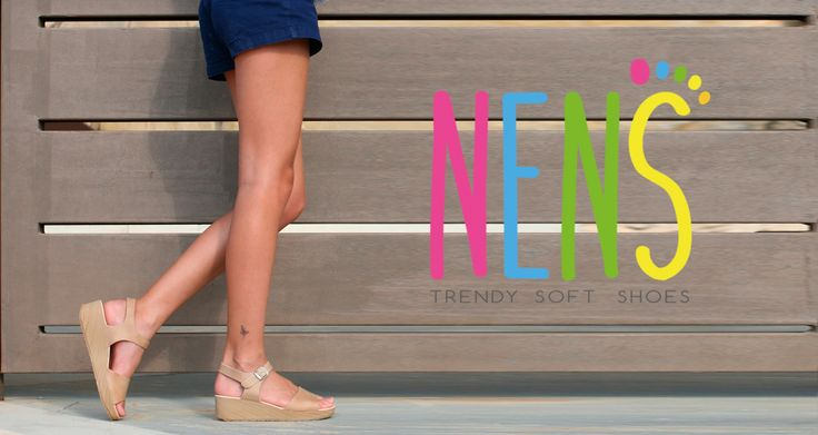 NENS SS17 Gourgeous NENS nude wedge sandals for girls.
