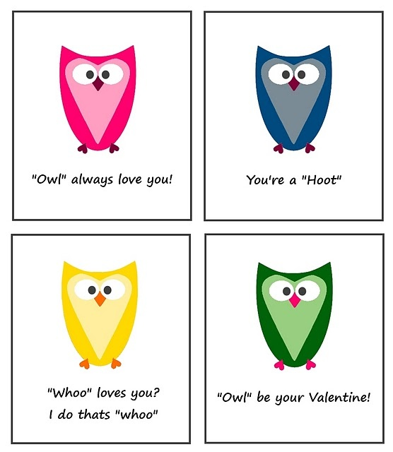 37 best images about printable owls – Owl Valentine Card