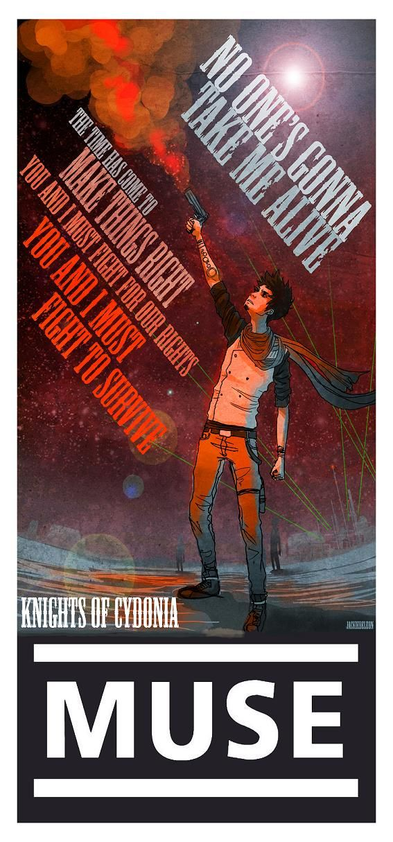 Knights of Cydonia poster, by ~JACKIEthePIRATE on DeviantArt