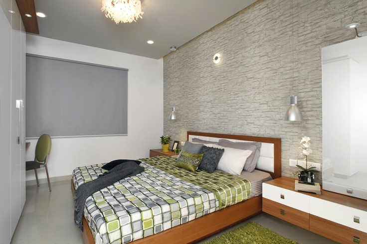 Master Bedroom - Skyline Ivy League    SAVIO and RUPA Interior Concepts Bangalore | professional apartment interior designers Bangalore | Modern villa Interior Designers | Residential Interior Designs