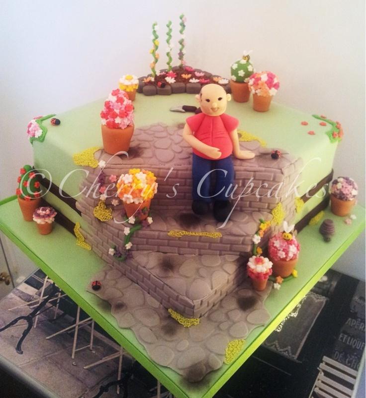 Flower Garden Cake   Gardening cake ideas   Pinterest ...