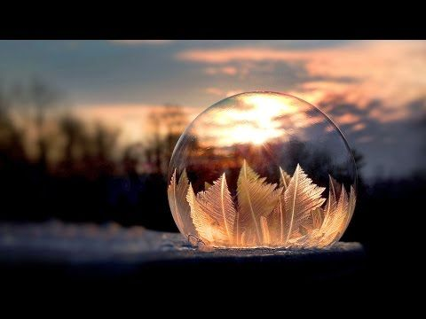 Artist Shows Bubbles Freezing in Real Time - YouTube