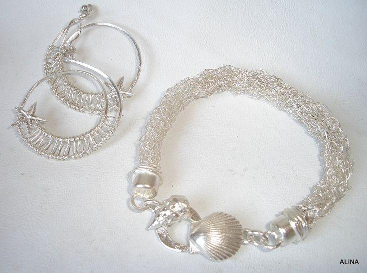 JOYAS TEJIDAS, hechas a mano con hilos de plata