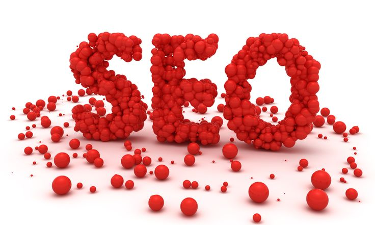 Red balls make word SEO.
