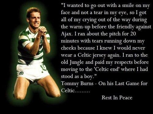 Happy Birthday Tommy Burns a true Celtic legend > Betfair Community > Football
