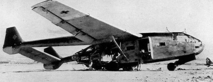 This Gotha Go 242 glider has been destroyed by British bombing raids on the airfield at Catania, during the invasion of Sicily of 1943