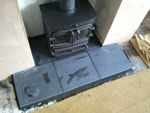 Slate hearth - I'd be happy with tiles rather than whole pieces if its cheaper.