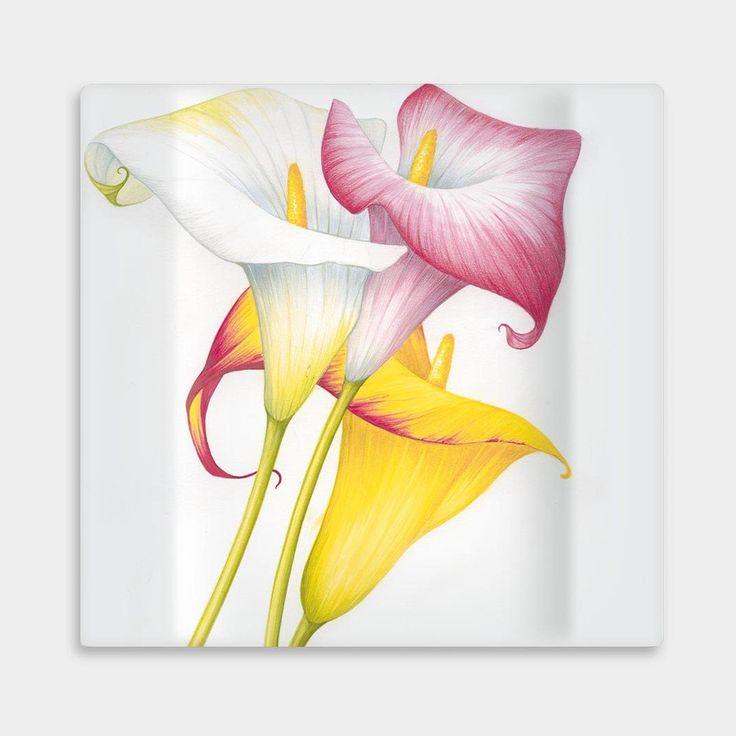 Calle Teller flach Blumen