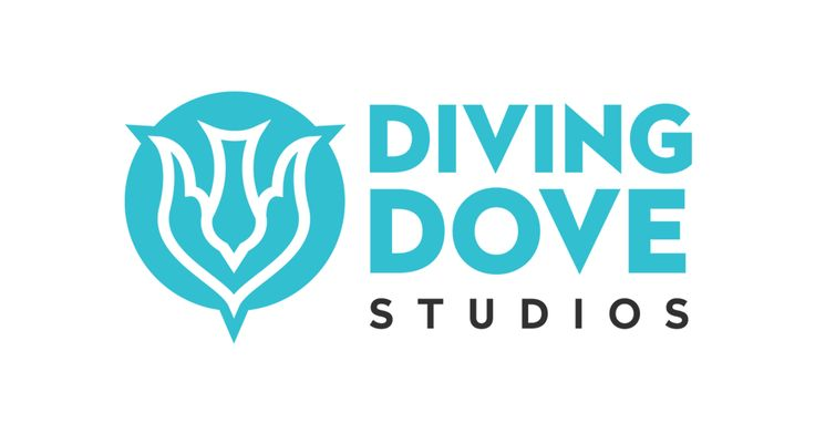 New #logo #design by ZOO Media Group for our friends at Diving Dove Studios a new gaming firm. #diving #dove #blue #branding #logodesign