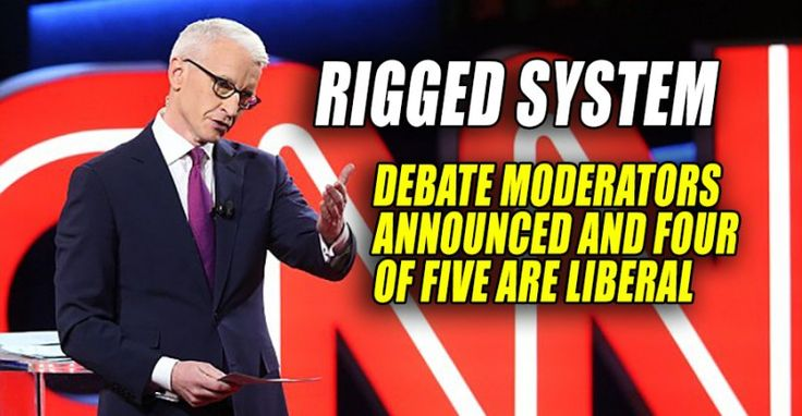 RIGGED SYSTEM : Presidential Debate Moderators Announced – Four of Five are Liberals (9/3/16)