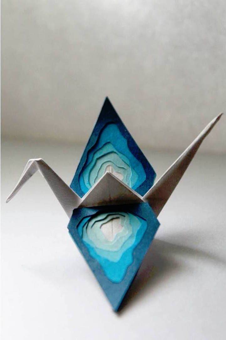 This artist expresses his thoughts through origami, creating a new paper crane every 24 hours as a representation of his day.
