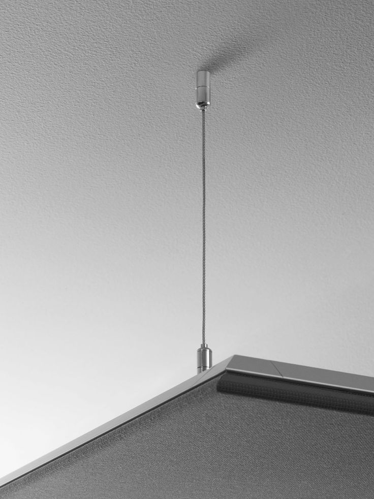 Mounting Kvadrat Soft Cells with wires for ceiling installations