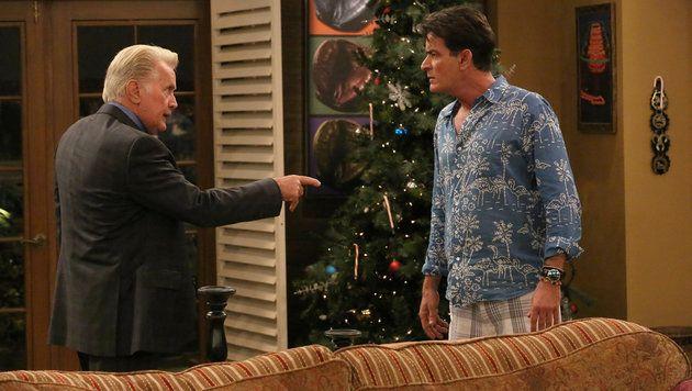 "Martin és Charlie Sheen a TV-sorozat ""Anger Management"" (Kép: Hollywood Kép Press / face-to)"