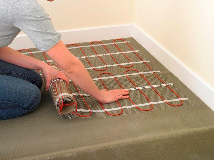 beltéri fűtőszőnyeg telepítése