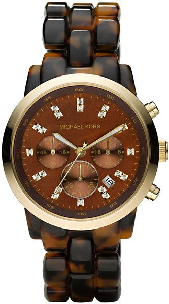 Micheal Kors - Oversized Tortoise Watch - Lyst