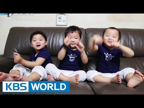 The Return of Superman - Triplets Torching the Relay - YouTube