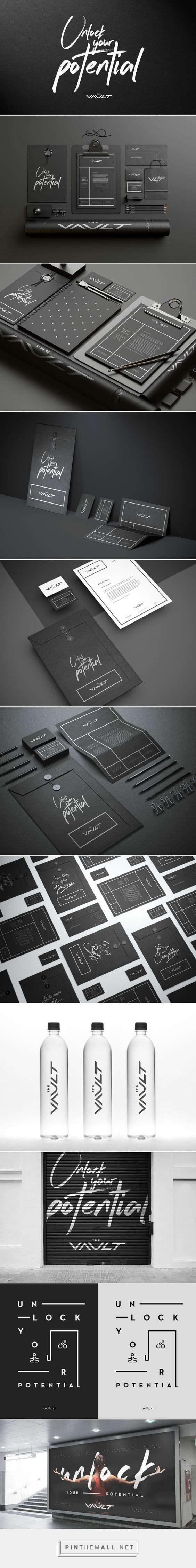 Brand design and ideas   Simple black and white branding inspiration    The Vault Branding on Behance