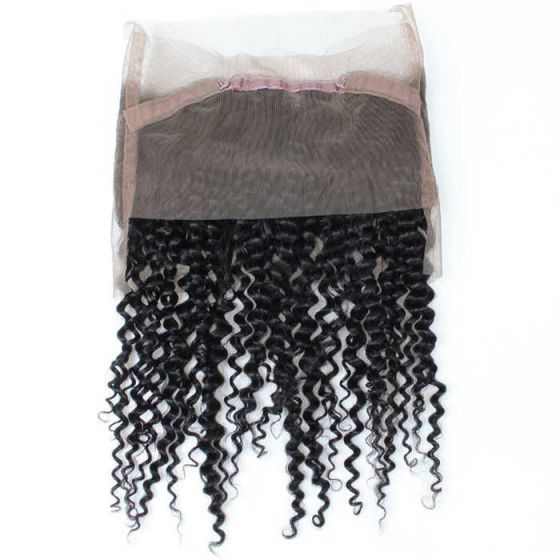 Mink Hair Brazilian Curly Virgin Hair 1pc 360 Lace Frontal
