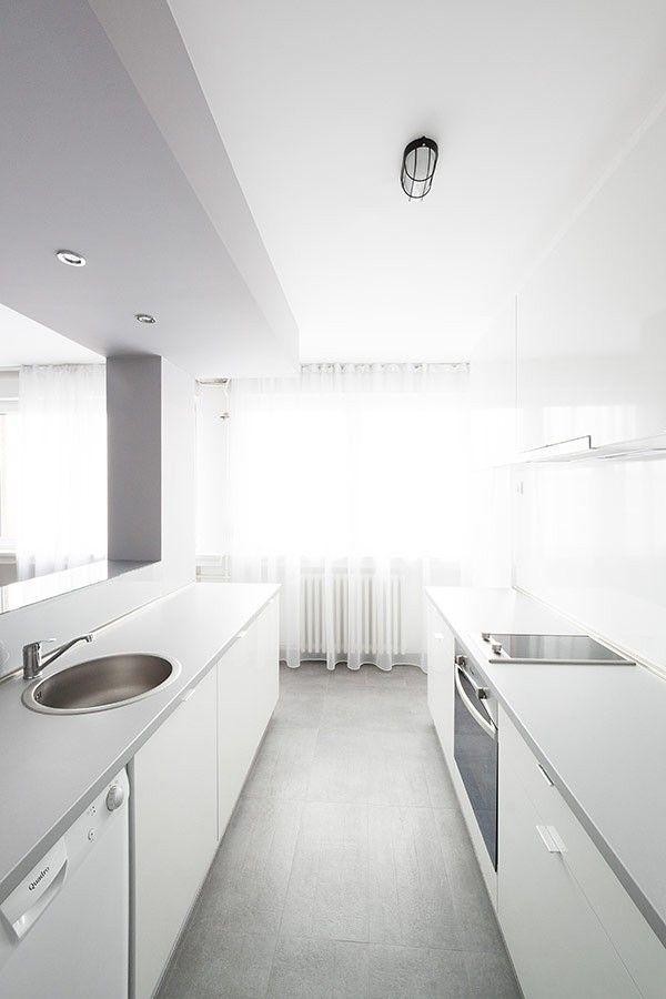 Küche Bereich Wohnung minimalistischen Andreja Bujevac 21 schwarz-weiß (13)
