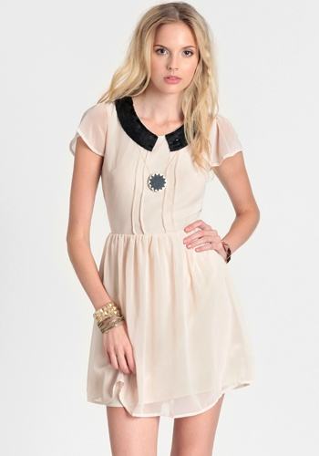 $48Show Stopper Beaded Collar Dress 48.00 at threadsence.com