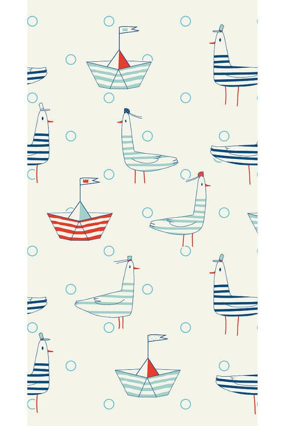 Beach Party, Dinner Napkins, Nautical Party, Party Napkins, Napkins, Sailboats, Seagulls, Paper Hats, Seafarer, Nautical Birthday, Ocean