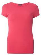 Womens Pink Cotton T-Shirt- Pink