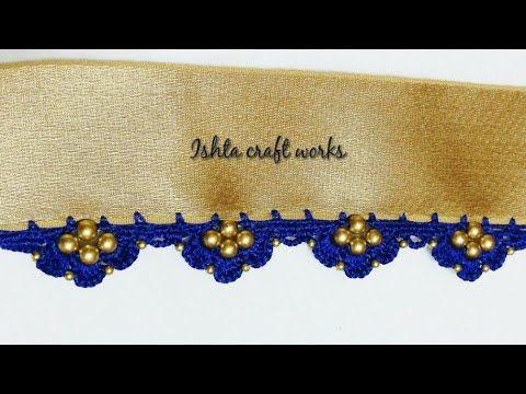 New variation in crochet slanting triple arch - YouTube