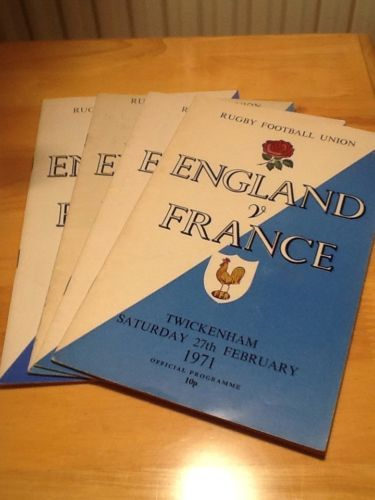 #England v france #rugby #union programmes.,  View more on the LINK: http://www.zeppy.io/product/gb/2/252353585063/