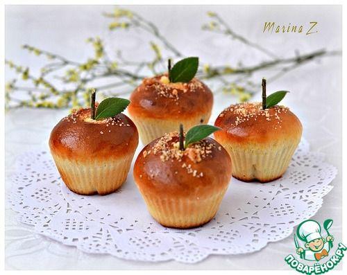 Сдобные булочки на сливках со штрейзелем - кулинарный рецепт