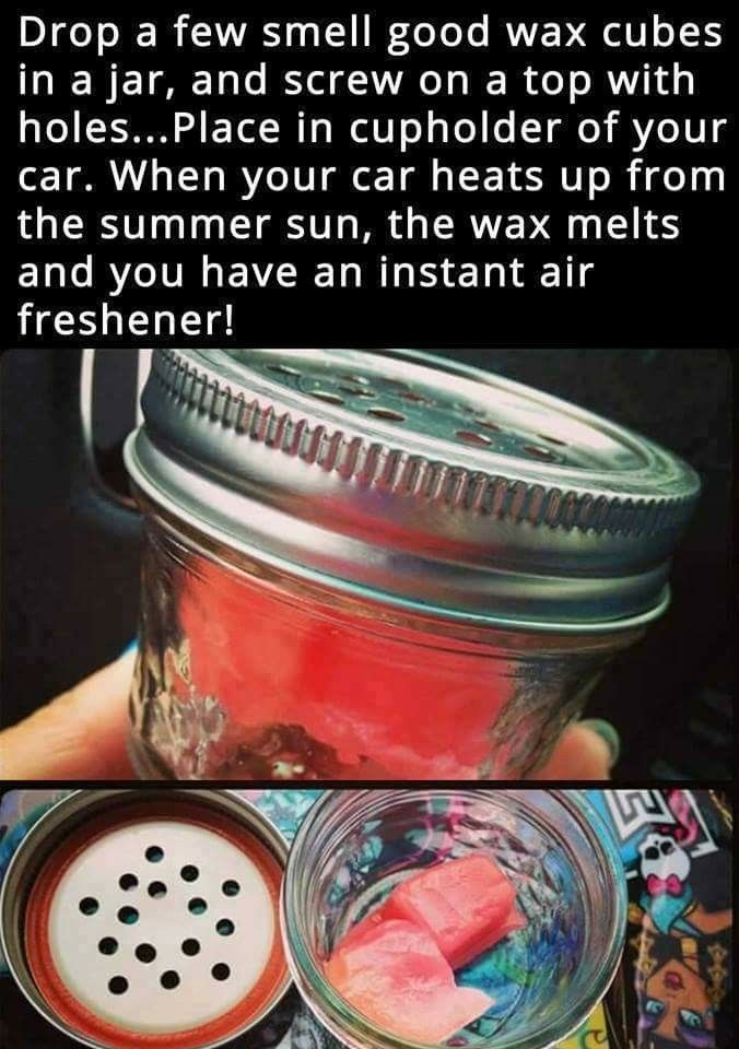 I would do this only with essential oils not wax, plus if you use oils it works n wintertime too.