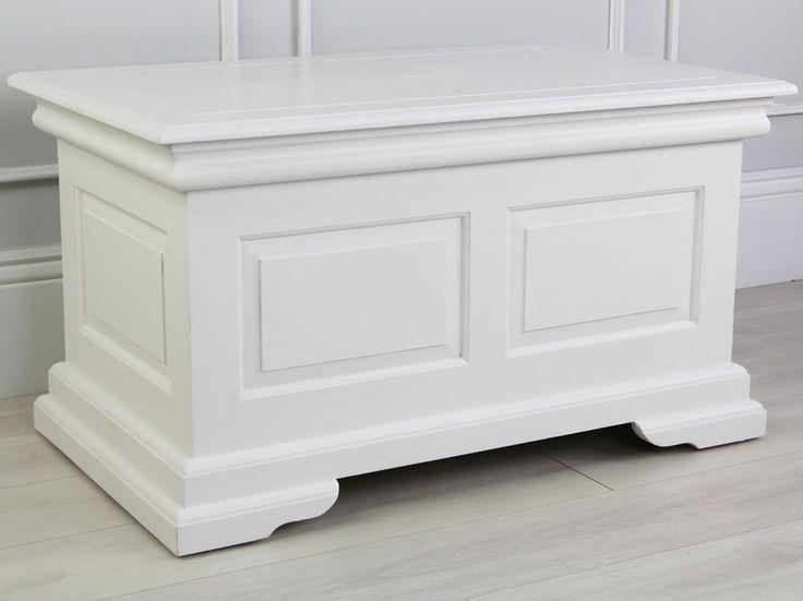 White Painted Blanket Box
