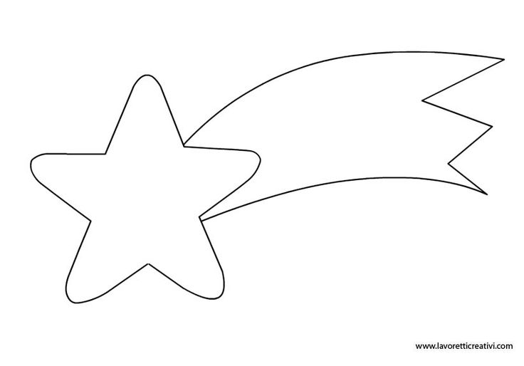 sagoma-stella cometa