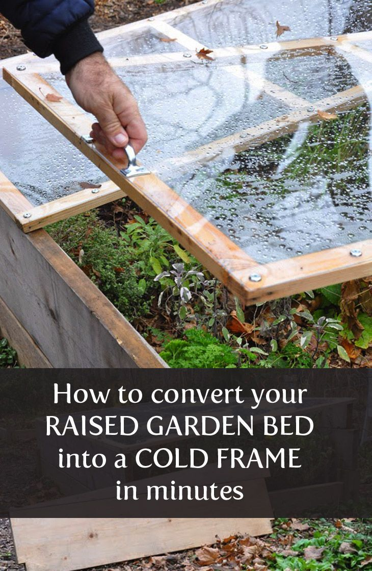 how to build a cold frame from your garden wood frame/box in 10 minutes!