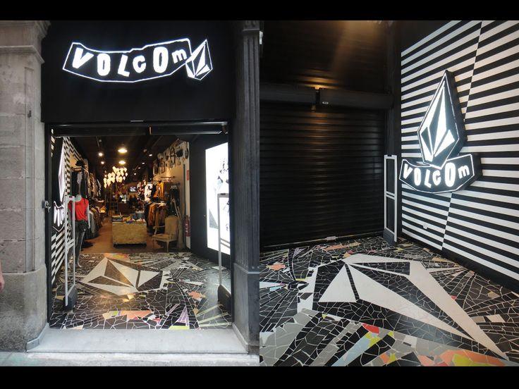 MAGASIN VOLCOM BARCELONE réalisé par www.cadypso.com (Architecture d'intérieur - Agencement Magasins - ERP - Particuliers)  Rénovation // Lifestyle - Snowboard - Store ///  Création - Aménagement - Concept